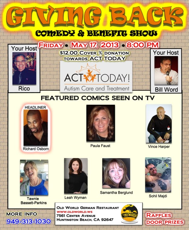 Giving Back Comedy & Benefit Show at Old World German Restaurant